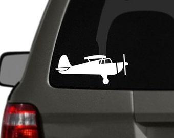 Small Airplane Vinyl Car Decal BAS-0308