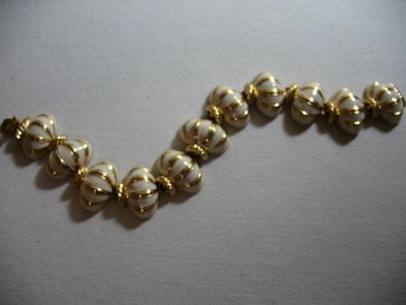 Joan Rivers Enamel and Gold Tone Bracelet