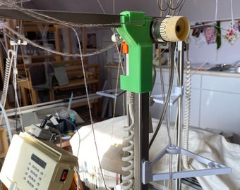 Passap Knitting Machine Mast Head CURL CORD Side Replacement Piece E6000 Color White