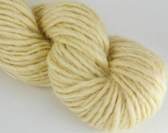 Homegrown Mill Spun Wensleydale Farm Wool Single Ply Lopi Spun Natural White