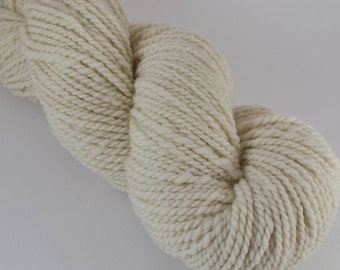 Homegrown Mill Spun Cormo Farm Wool Worsted Weight 2 Ply Natural White