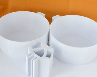 Yarn Holder Bowls and Clip Complete Set Passap Knitting Machine