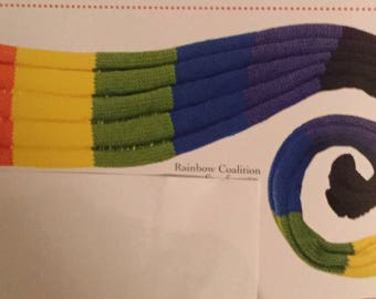 Rainbow Coalition Scarf