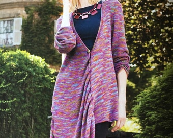 Welted Button Tucked Cardigan
