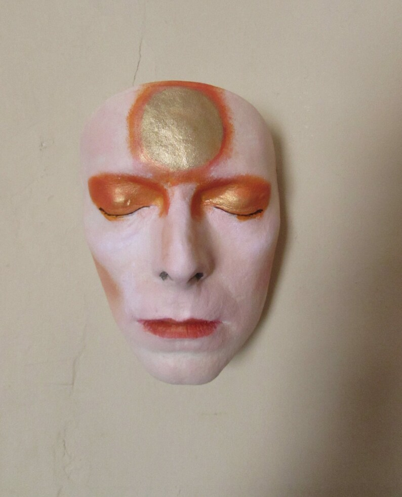 David Bowie Life Cast resin Painted in ziggy stardust makeup The hunger