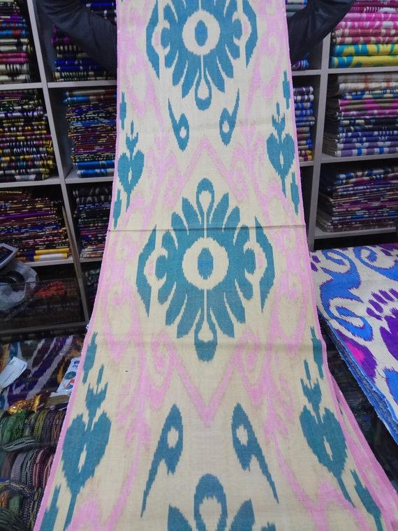 SF021 Uzbek handwoven silk ikat fabric by meter