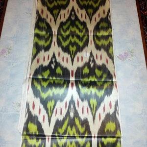 Tribal Uzbek traditional cotton woven ikat fabric by meter ethnic FM126 boho fabric