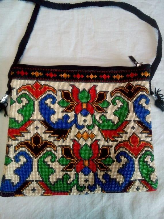 Uzbek Silk Hand Embroidered Bag Mascot Cross Stitch Etsy