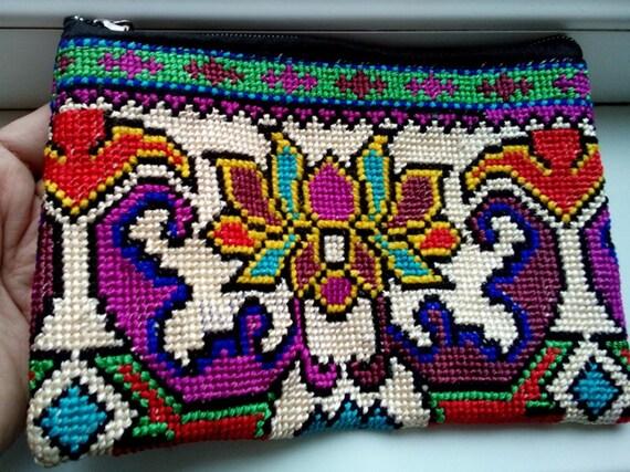Uzbek Silk Hand Embroidery Purse Mascot Cross Stitch Etsy