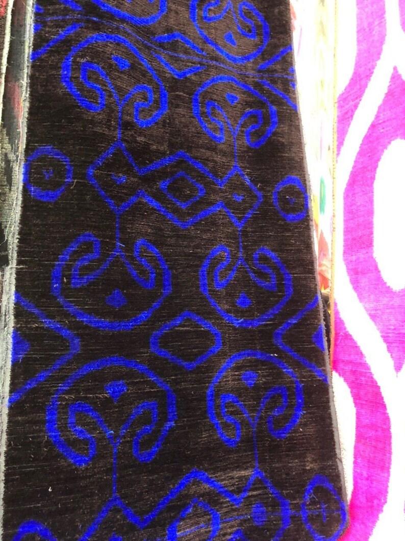 NN Uzbek silk velvet ikat fabric by meter Uzbek silk velvet Bakhmal