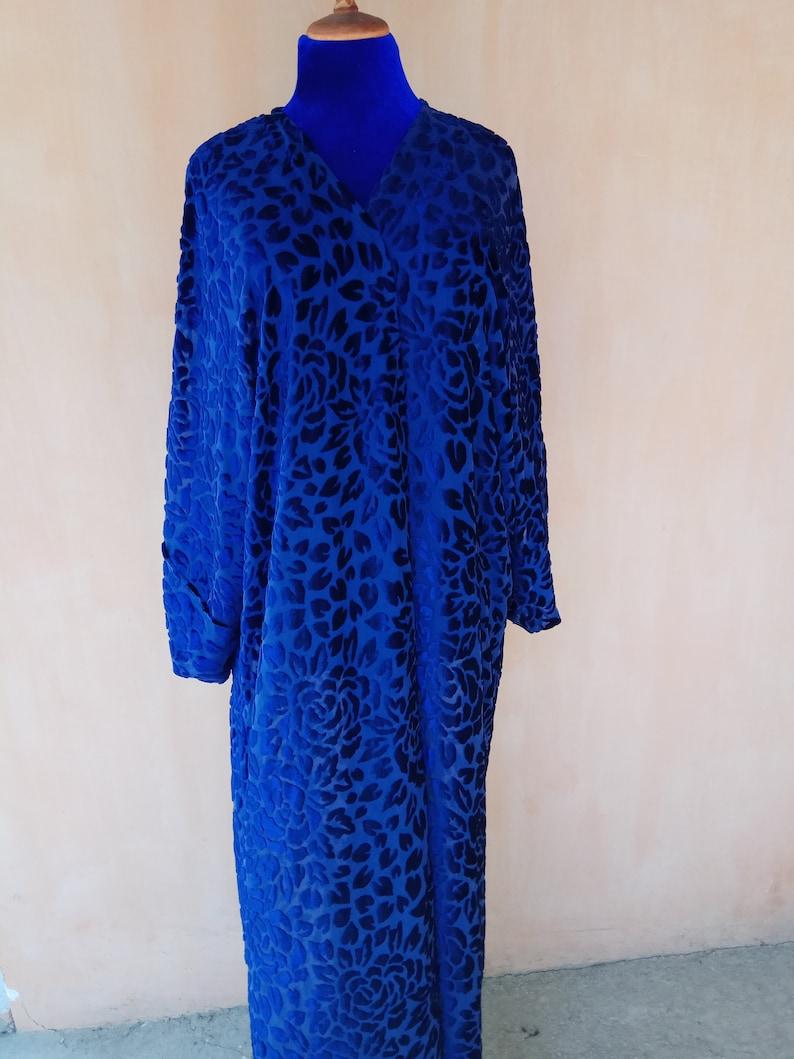 professional exquisite style another chance Blue velvet kaftan. Blue cardigan, velvet robe, bohemian kaftan, tribal  kaftan. CHT048