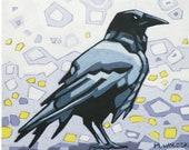 "Crow (1) - Art Print, 8"" x 8"""