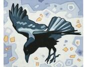 "Crow (3) - Art Print, 8"" x 8"""