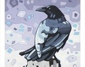 "Crow (2) - Art Print, 8"" x 8"""