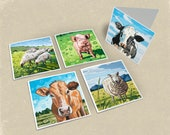 Farm Greeting Cards - Set of 5
