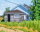 "Art Print, 8"" x 8"", Grandma's House"
