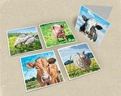 Farm Greeting Cards - Set of 5