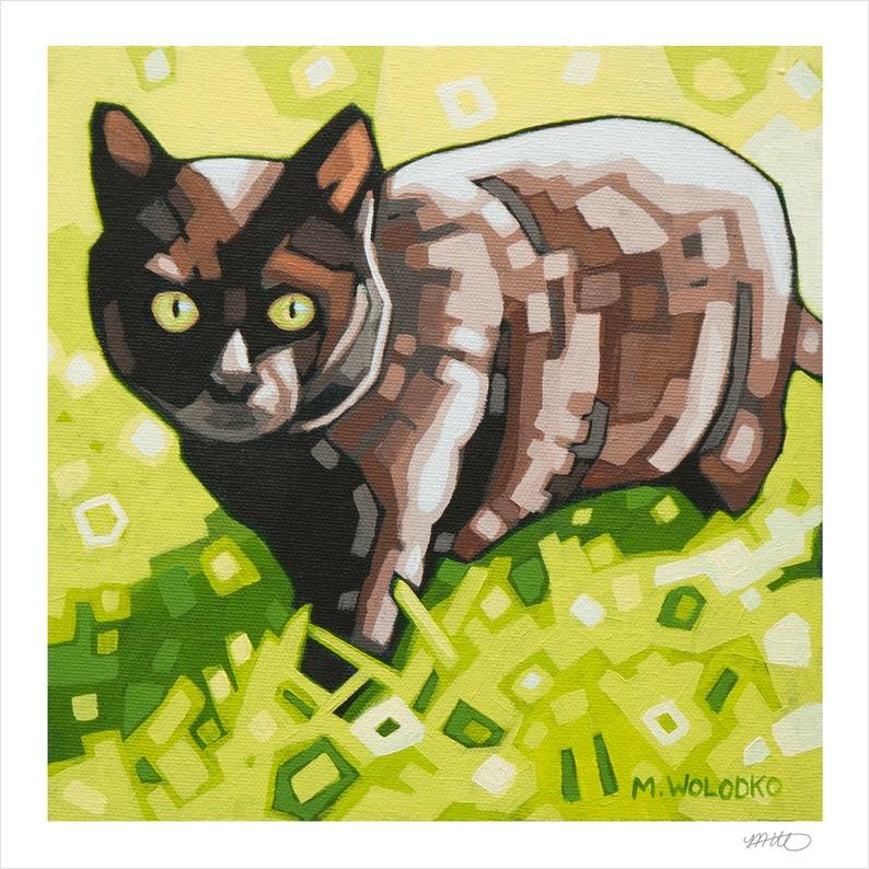 Black Cat  Art Print 8 x 8 image 0