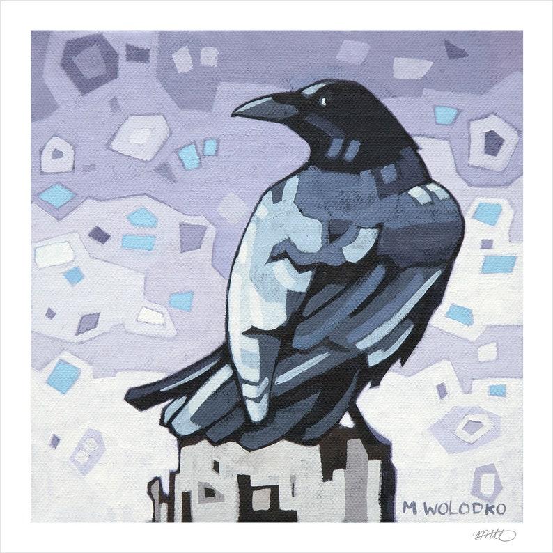 Crow 2  Art Print 8 x 8 image 0