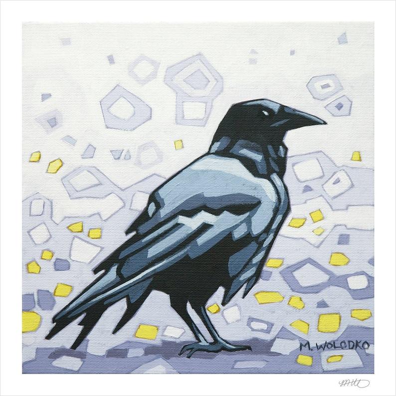 Crow 1  Art Print 8 x 8 image 0