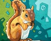 "Squirrel Art Print, 8"" x 8"""