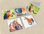 Horse Greeting Cards - Set of 5
