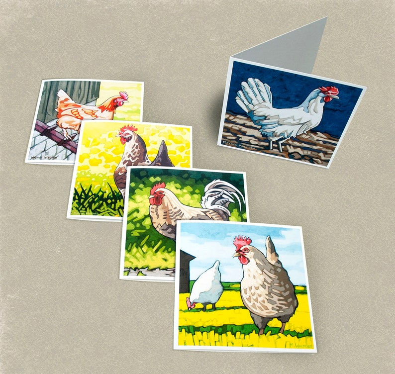 Chicken Greeting Cards  Set of 5 image 0