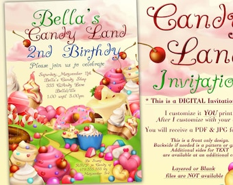 candyland birthday party invitation candy land party birthday candy land invitation