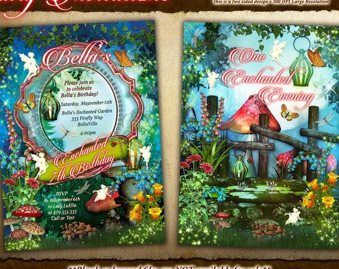 Fairy, Fairies, Fairy Garden Party Invitation, Fairy Invitations, Birthday Invitations, Shower Invitations, Fairy Party