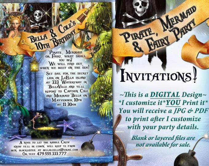 Mermaid Pirate Fairy Party, Pirates Fairies Mermaids, High Seas Birthday