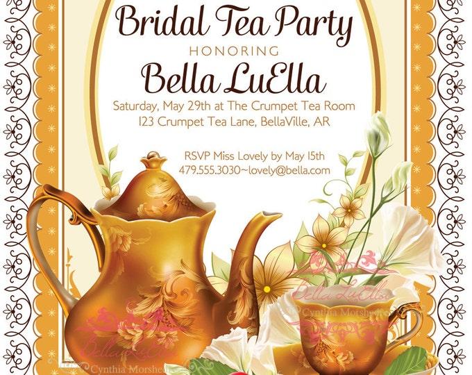 Tea Party Invitation, Invitations, Tea Parties, Party Invitations, Garden Tea Party