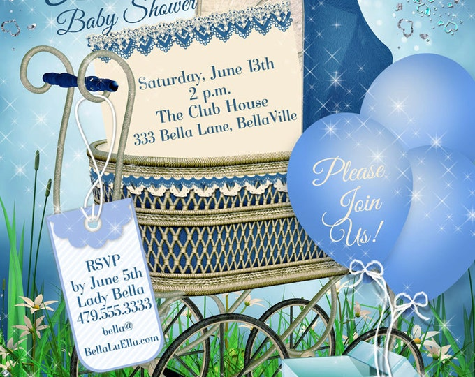 Baby Shower Invitation for Boy, Baby Shower Invitations, Shower Invitations, Party Invitations