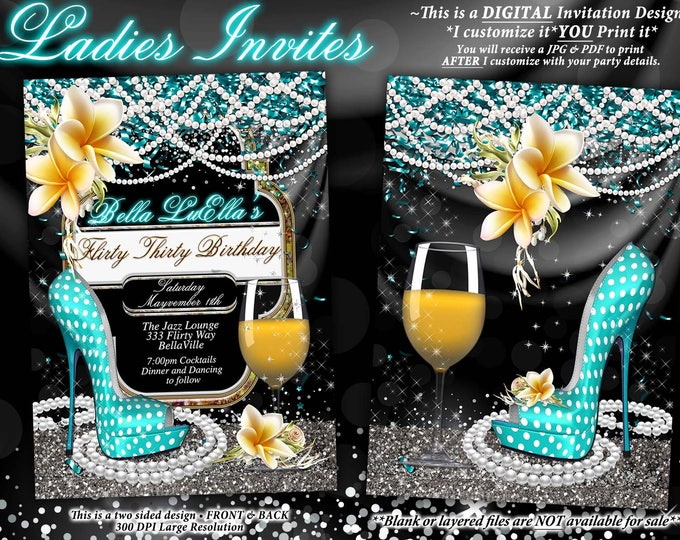 Fabulous and Flirty Party Invitations, Diva Birthday, Birthday Invitations, Fabulous and Forty, Girls Night Out Invites