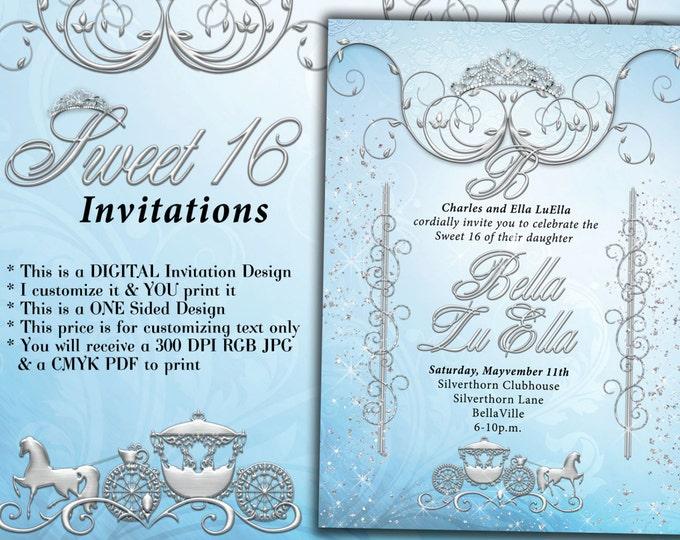 Birthday Party Invitations, Quinceanera Invitation, Party Invitations, Sweet 16 Party