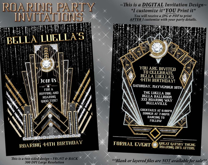 Roaring 20's Glam,  Art Deco Theme, Bling Glam Party