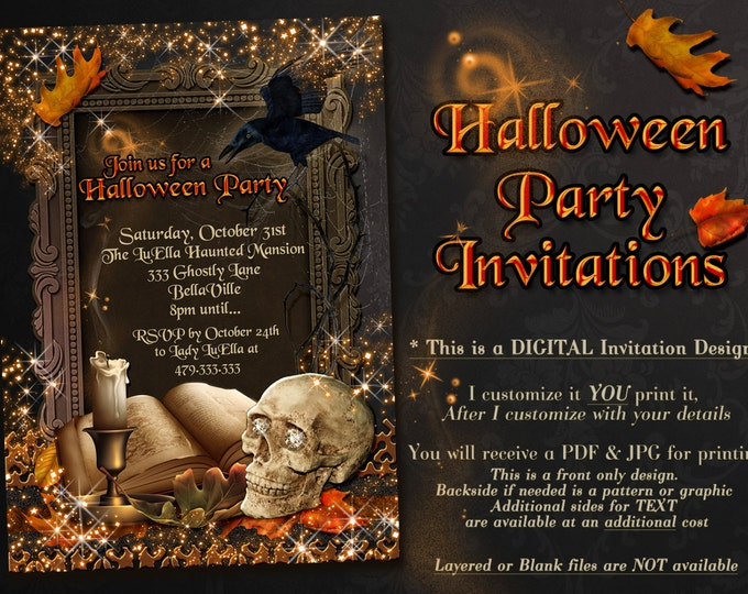 Halloween Invitations, Halloween Party Invitations, All Hallows Eve