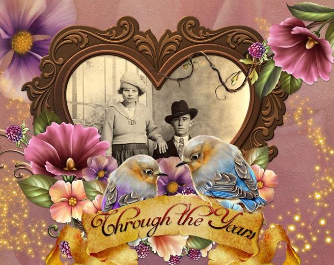 Anniversary Photo Card Invitations