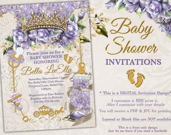 ef8bd3e9143d Princess Baby Shower Invitation