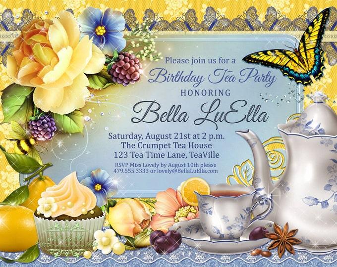 Tea Party Invitation, Tea Parties, Bridal Tea Party Invitations, Party Invitations, Tea Time