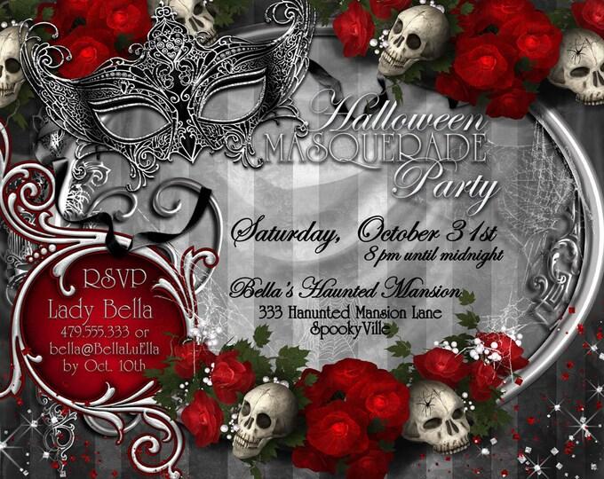 Halloween Masquerade Party, Masquerade, Halloween, Day of Dead