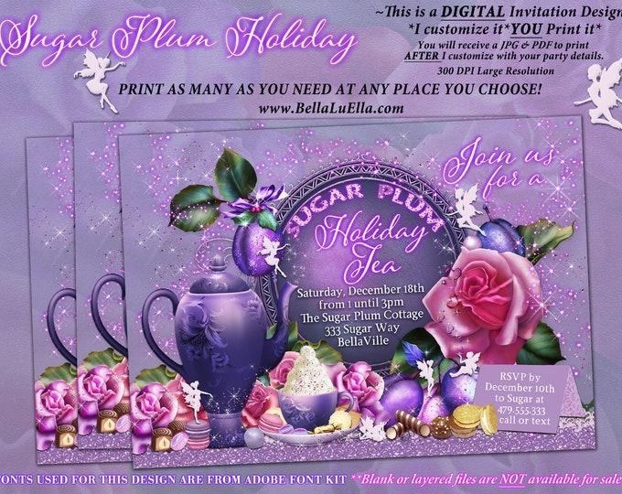 Fairy Sugar Plum Christmas Holiday Tea Party