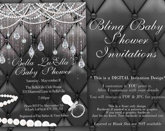 8b95fc5b2da4 Diamond Baby Shower Invitation