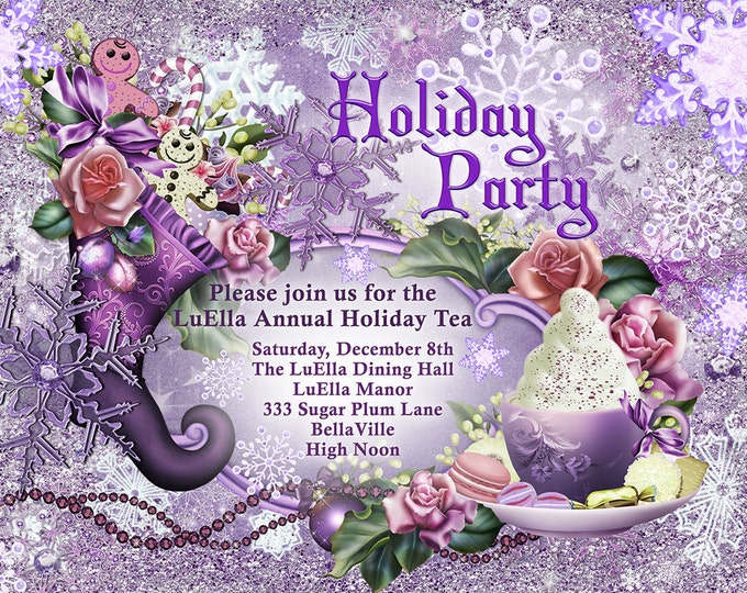 Sugar Plum Christmas Holiday Tea Party, Holiday Tea Party