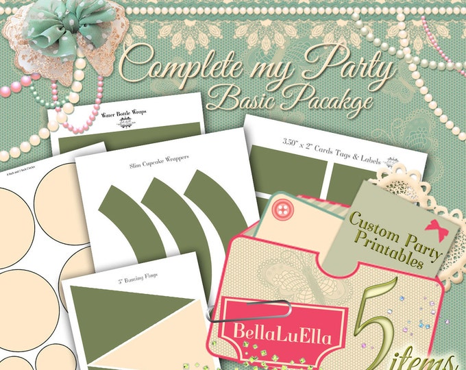 Party Printables, Printable Party Package, Custom Party Printables, Birthday Party, Personalized Party