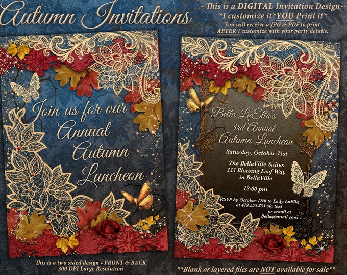 Autumn Fall Luncheon Invitations