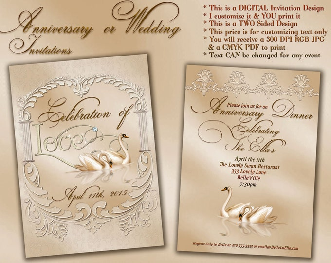 Wedding and Anniversary Invitations