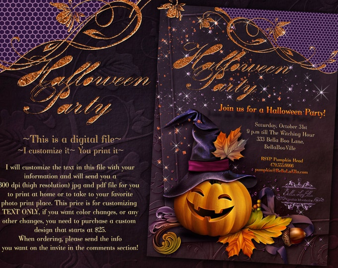 Halloween Party, Halloween Invitations