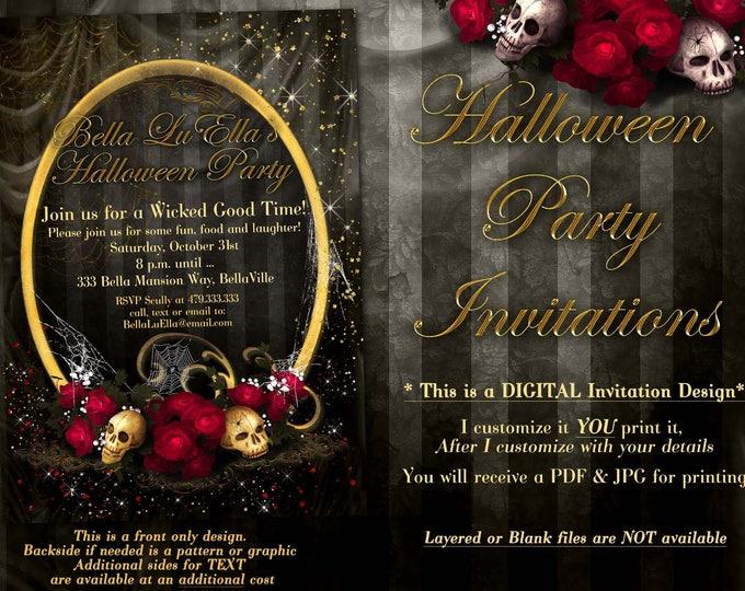 Halloween Invitations Halloween Party Invitations