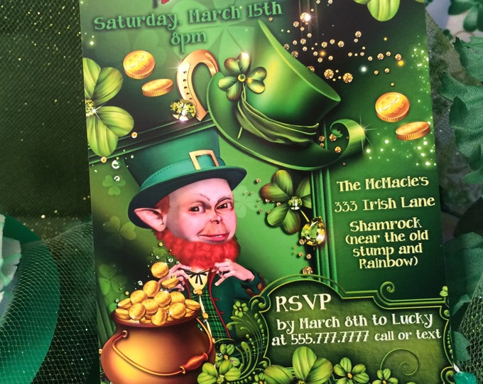 St. Patricks Day Party Invitations, St. Patty's Day Invites, Saint Patricks Day, St Pattys Invitations