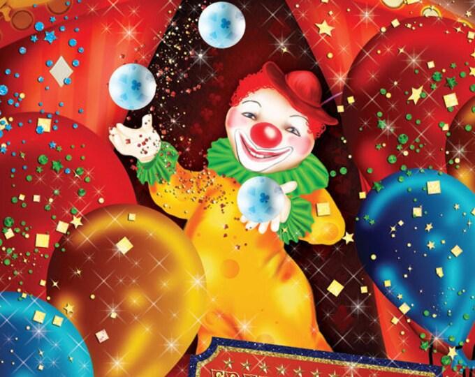 Carnival Circus Birthday Invitation, Clown Birthday, Carnival Birthday, Circus Birthday, Circus Invitation, Carnival Invitation